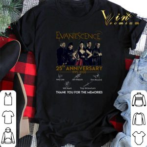 Thank you for the memories Evanescence 25th anniversary shirt
