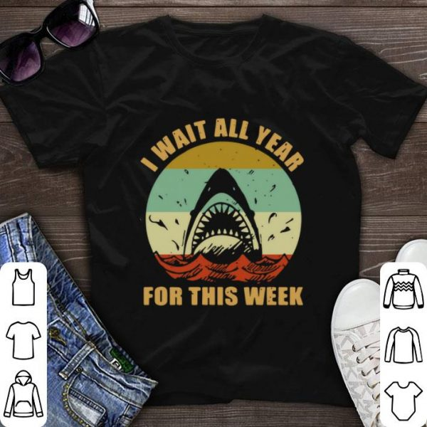 Vintage Jaws I wait all year for this week shirt