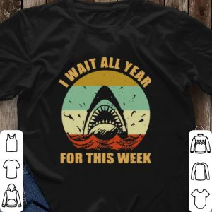 Vintage Jaws I wait all year for this week shirt 2