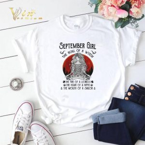 Yoga September girl the soul of a witch the fire of a lioness shirt sweater