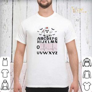Alphabet heartbeat Boo ghost nurse shirt 2