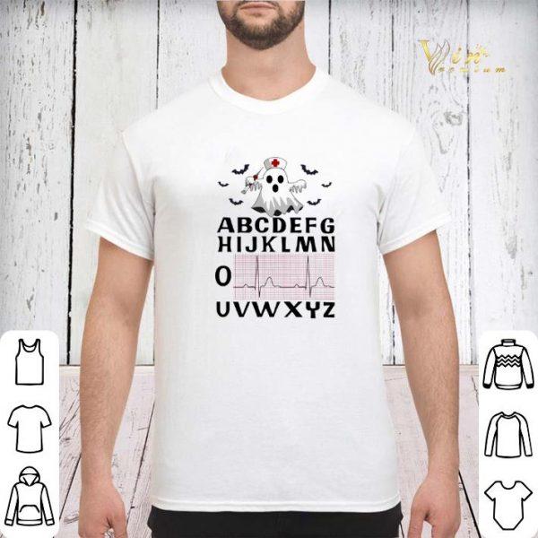 Alphabet heartbeat Boo ghost nurse shirt