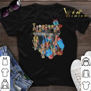 Chibi characters One Piece reflection water mirror shirt sweater