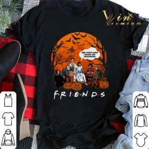 Halloween Friends horror characters jesus that's how I saved the halloween shirt