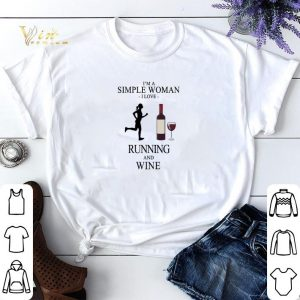 I'm a simple woman i love running and wine shirt sweater