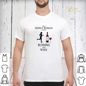 I'm a simple woman i love running and wine shirt sweater 2
