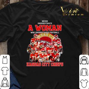 Never underestimate a woman who understands Kansas City Chiefs shirt sweater 2