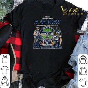 Never underestimate a woman who understands Seattle Seahawks shirt sweater 1
