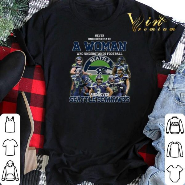 Never underestimate a woman who understands Seattle Seahawks shirt sweater