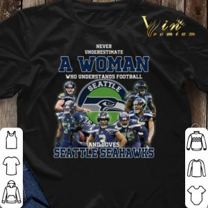 Never underestimate a woman who understands Seattle Seahawks shirt sweater 2