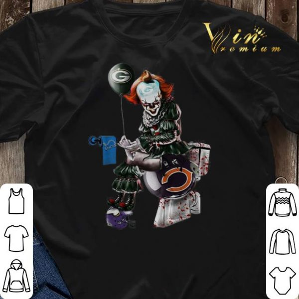 Packers Detroit Lions Minnesota Vikings toilet Pennywise shirt