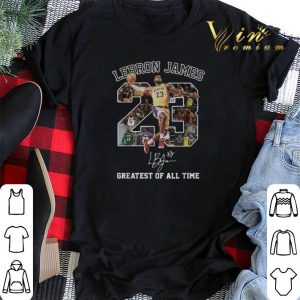 Signature Lebron James greatest of all time shirt