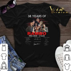 Signatures 38 years of Rambo 1982-2020 5 films shirt