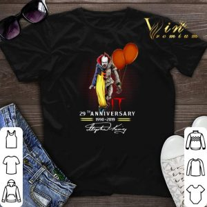 Signatures Pennywise IT 29th Anniversary 1990-2019 shirt
