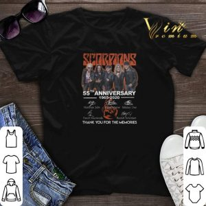 Thank you for the memories Scorpions 55th anniversary 1965-2020 shirt