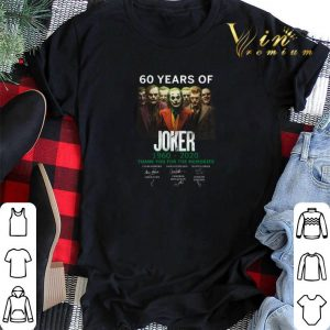 Thank you for the memories signature 60 years of Joker 1960-2020 shirt
