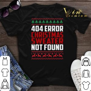 404 Error Christmas Sweater Not Found shirt sweater