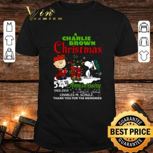 A Charlie Brown Christmas 54th anniversary Charles M. Schulz shirt