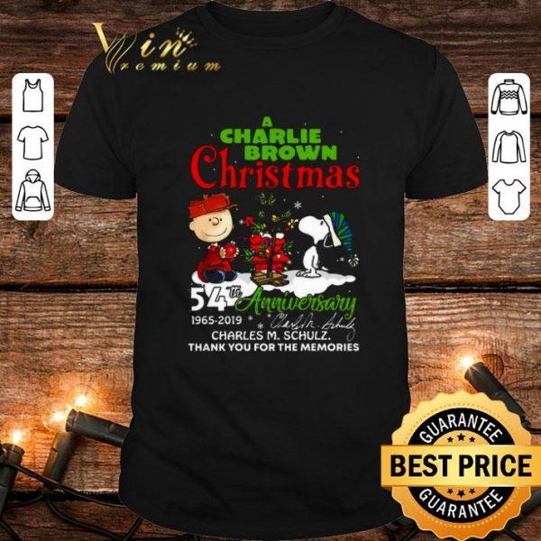 A Charlie Brown Christmas 54th anniversary Charles M. Schulz shirt