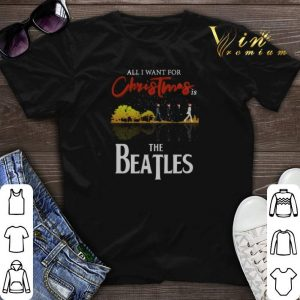 All i want for Christmas is The Beatles guitar lake shirt sweater