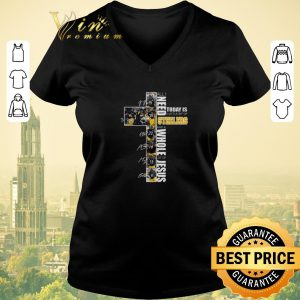 Awesome All I need today is a little bit of Steelers whole lot of Jesus shirt sweater