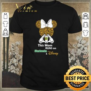 Awesome Minnie Mouse this mom runs on Starbucks & Disney shirt sweater