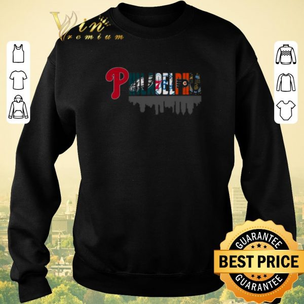 Awesome Philadelphia Sports Teams Phillies Eagles 76ers Flyers shirt sweater
