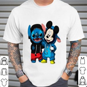 Baby Mickey and Stitch shirt