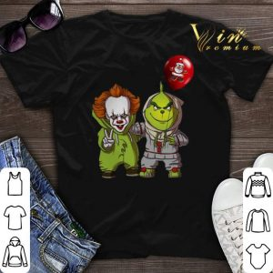 Baby Pennywise and Grinch shirt sweater