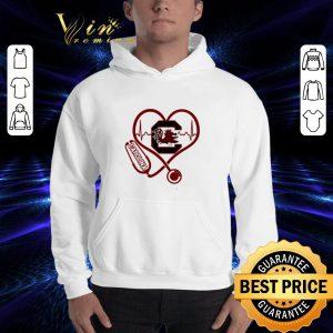 Cheap Heartbeat love Carolina Gamecocks nurse shirt 2