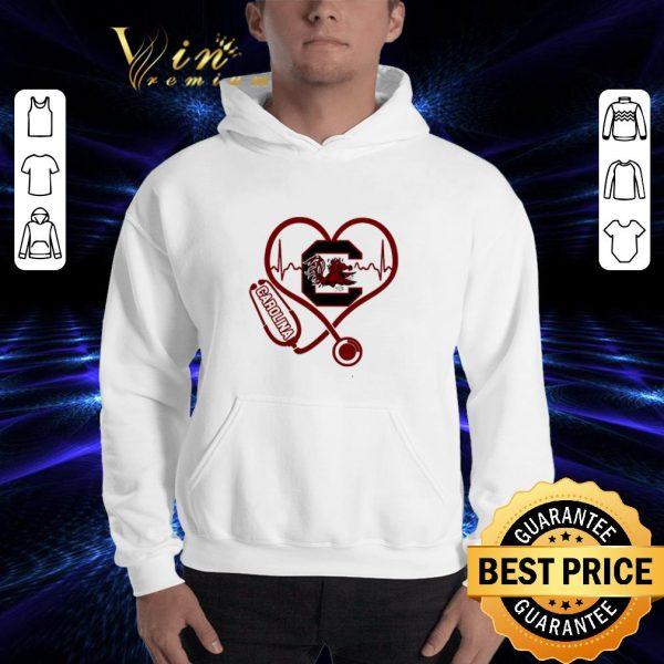 Cheap Heartbeat love Carolina Gamecocks nurse shirt