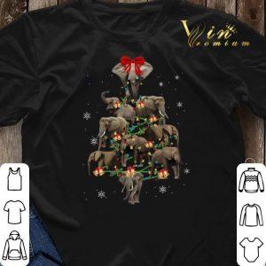 Christmas Trees Elephants shirt 2