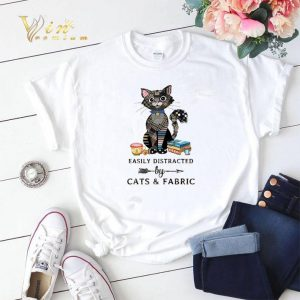 Easily distracted by cats & fabric shirt sweater