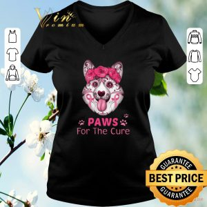 Funny Corgi Paws for the cure Breast Cancer Awareness shirt sweater