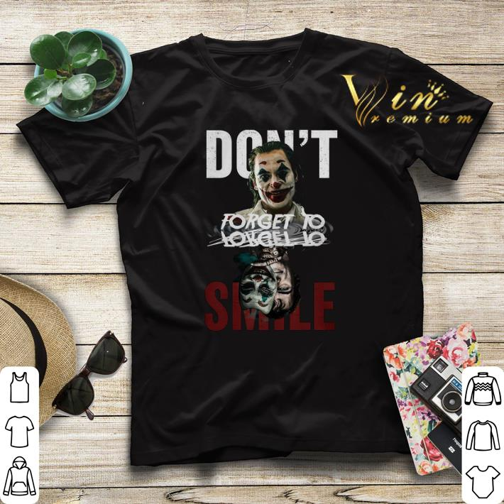 Funny Joker don t forget to smile water mirror Joaquin Phoenix shirt sweater 4 - Funny Joker don't forget to smile water mirror Joaquin Phoenix shirt sweater