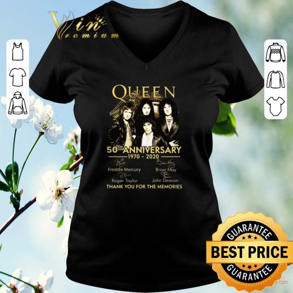 Funny Thank you for the memories Queen 50th anniversary 1970-2020 shirt