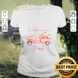 Funny Truck In october we wear Pink Breast cancer awareness shirt