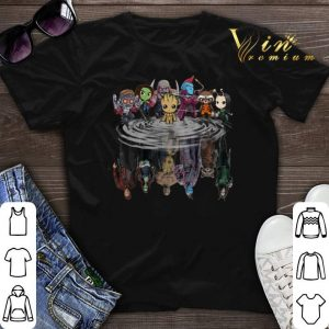Guardians of the Galaxy characters reflection water mirror shirt sweater