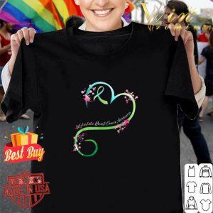 Heart Ribbon Metastatic Breast Cancer Awareness shirt