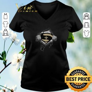 Hot Superman logo New Orleans Saints inside me shirt