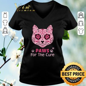 Nice Cat Paws for the cure Breast Cancer Awareness shirt sweater