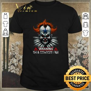 Nice Pennywise IT warning i'm a Cowboys fan shirt sweater