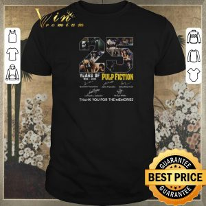 Original Thank you for the memories 25 years of Pulp Fiction 1994-2019 shirt