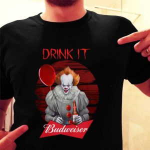 Pennywise drink IT Budweiser shirt