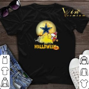 Premium Halloween Snoopy flying on the broom Dallas Cowboys shirt