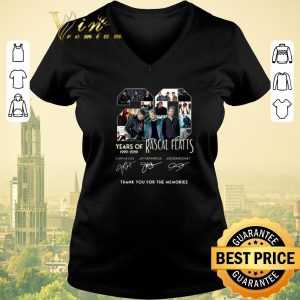 Premium Thank you for the memories 20 Years of Rascal Flatts 1999-2019 shirt 1