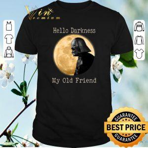 Pretty Darth Vader moon Hello darkness my old friend shirt sweater