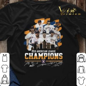 Signatures Houston Astros City 2019 American League Champions shirt 2