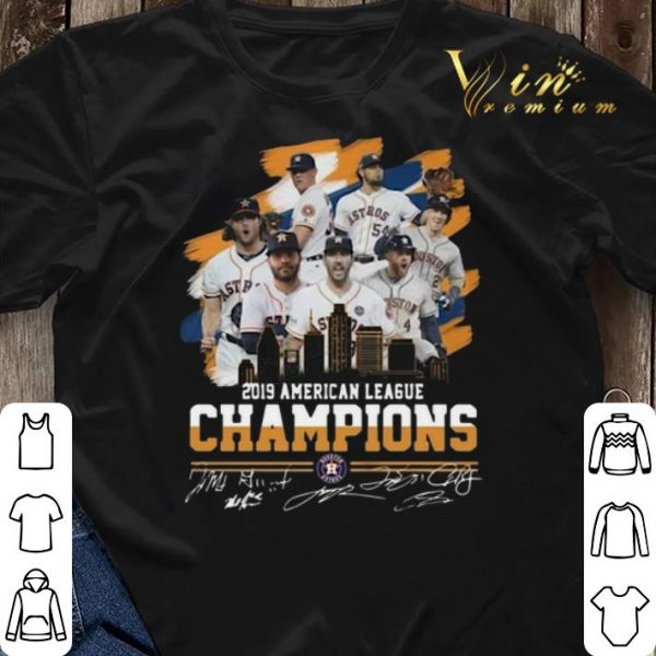 Signatures Houston Astros City 2019 American League Champions shirt
