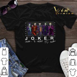 Signatures Joaquin Phoenix Joker Jack Nicholson Mark Hamill Heath Ledger Cesar Romero shirt